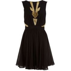 Cleo Black And Gold Dress