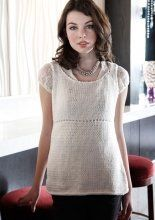Free Knitting Pattern - Women's Short Sleeve Knits: Walcott Empire Waist Tank