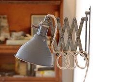 Industrial Scissor Accordion Wall Lamp, by LongMadeCo.com