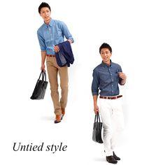 【薄手で品のある素材感で周りと差をつける】7分袖シャンブレービジネスカジュアルシャツ 日本製 Biz - メンズビジネスカジュアル(ビジカジ)通販