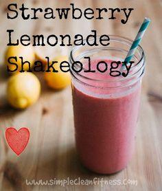 Strawberry Lemonade Shakeology - 21 Day Fix // recipes // nutrition // smoothie // shakeology // beachbody // fitness // fit food // healthy recipes // snacks  // breakfast
