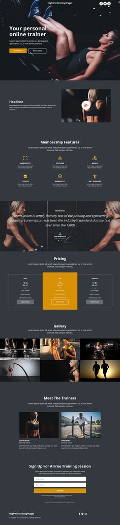 High performing pages are beautiful #bootstrap template for #fitness #gym center stunning #landingpage website with 8+ multipurpose homepage layouts download now➩ https://themeforest.net/item/high-performing-pages-landing-page-kit-with-page-builder/18839663?ref=Datasata
