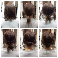 As a standard hair arrangement, many women take … – Beauty Tips & Tricks Als Standard Haarschmuck nehmen viele Frauen … Medium Hair Styles, Curly Hair Styles, Short Hair Styles Easy, Hair Arrange, Ombre Hair, Up Hairstyles, Short Hair Ponytail Hairstyles, Bob Wedding Hairstyles, Teenage Hairstyles