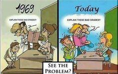 Explain these bad grades (vroeger en nu)
