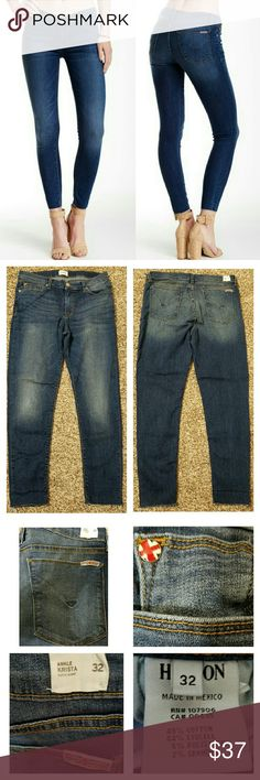 JUST IN!▪Hudson Krista Super Skinny Ankle Worn a handful of times post-pregnancy. Super soft denim. Great fitting pair of jeans. Bottom of jeans is designed with a raw hem. You can cuff jeans for capri look or leave them uncuffed. Pic 4 shows measurements. No holes, rips, or stains. Zip fly with button closure. Five pockets. Medium wash. Hudson Jeans Jeans Ankle & Cropped