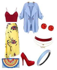 """""""Printed. skirts"""" by mcounce on Polyvore featuring Proenza Schouler, Mystique, Charlotte Russe and Alexis Bittar"""