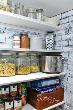 Behind the Kitchen Pantry Door ~ via KnickofTime.net