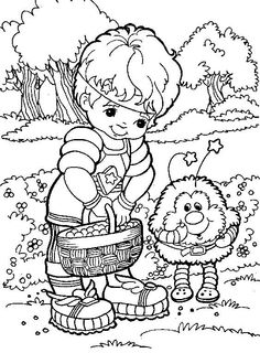 Rainbow Brite Coloring Sheets | Rainbow Brite Character Coloring Page