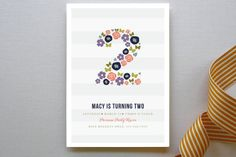 Two Pretty Children's Birthday Party Invitations by Kayla Grunder at minted.com
