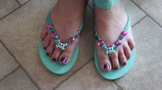 #KidsCrafts Embellished Flip Flops #summer #craft