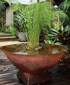 Balinese style water features bowls
