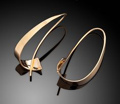 Swirl+Earring by Ben+Dyer: Gold+Earrings available at www.artfulhome.com