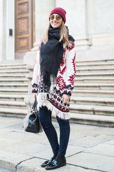 ミラノの最新冬スタイルは、ニット&フラットシューズでカジュアルに。|ファッション(流行・モード)|VOGUE JAPAN