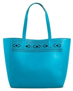 Merona® Women s Faux Leather Tote Handbag Perforated - MeronaTM 379b99b0ffca4