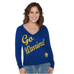 6a92064b3 Golden State Warriors Touch by Alyssa Milano Women s Plus Size MVP Pullover  Sweater - Royal