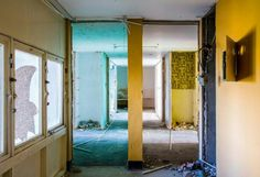 Interior of high rise flats at Sighthill the north of Glasgow. Photograph: Chris Leslie