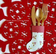Christmas stocking cutlery holder craft