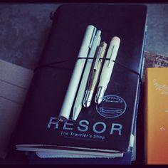Traveler's Notebook kind of day #midori #traveljournal #travel #journal #notebook #stationary #leatherjournal #travelersnotebook by Rësor Shop, via Flickr