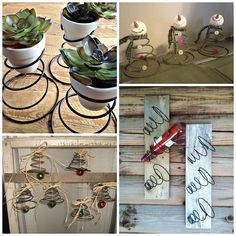 Here's one craft resource that I never even thought of…bed springs! Finally a way to use those old squeaky broken old mattresses…turn them into beautiful pieces of art for your home. Make spring planters by painting the bed springs and sticking little terra cotta pots on top!Tutorial found here by Home Road Turn a bundt …