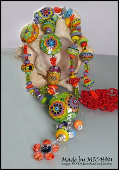 English Garden  Lampwork Necklace  Design and  by MichouJewelry, $469.00