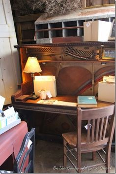 31 Days of Decorating with Junk: Repurposed Upright Piano by On the Banks of Squaw Creek
