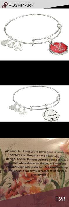 Alex and Ani bracelet Neptune' Protection Larkspur bracelet . Brand new with tags and card . Alex & Ani Jewelry Bracelets
