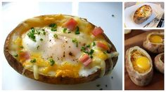 DIY Egg-Stuffed Baked Potatoes