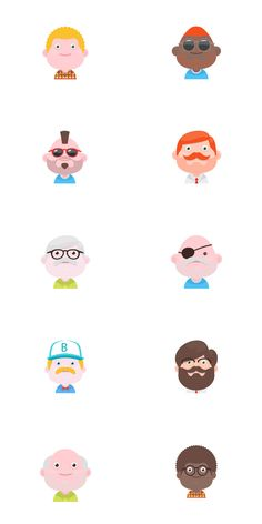 A brand new set of Material Design Style flat Avatars. Available on both Vector PSD and PNG format. Easy to customise and change, a perfect match for your material design projects! Feel free to use as you like and don't forget to share. Download here    Share it