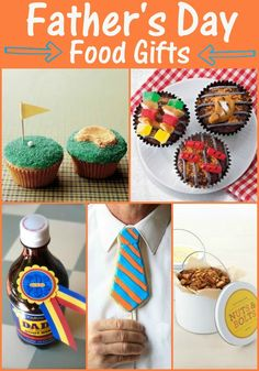 Fathers Day FOOD Gifts - lots of ideas for yummy treats to give to dad on Fathers Day! { lilluna.com }