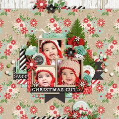 Cindy's Template Set #187 A Fairytale Christmas: Sweet by Kristin Cronin Barrow