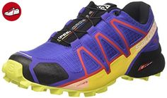 Salomon Damen Speedcross 4 W Traillaufschuhe, Violett (Spectrum Blue/sulphur Spring/fiery), 40 2/3 EU - Salomon schuhe (*Partner-Link)