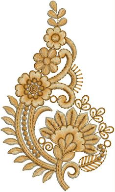 Discover thousands of images about Butta Embroidery Design Patch Design, Motif Design, Border Design, Pattern Design, Zardozi Embroidery, Embroidery Motifs, Ribbon Embroidery, Embroidery Suits Design, Machine Embroidery Designs