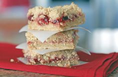 Cherry oat bars, I could see these being replaced with apple, blueberry, strawberry, etc.