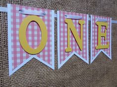Pink and Yellow One Banner, Girl High Chair Banner, Pink & Yellow Happy 1st Birthday Banner, Yellow I am 1 Banner, Lemonade Birthday Banner by LushPaperCreations on Etsy https://www.etsy.com/listing/264488631/pink-and-yellow-one-banner-girl-high