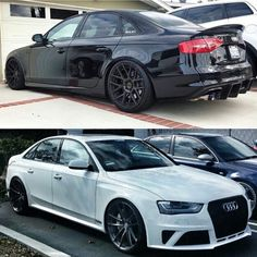 Black or White Monster? Audi S4, Audi A4 2008, Audi A4 Black, Audi Sedan, Vw Cc, Car Mods, Audi Cars, Modified Cars, Hot Cars