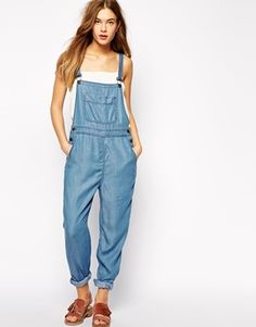 Dungarees by Ganni Lightweight denim Twin adjustable straps Pocketed design Buttoned sides Relaxed fit Machine wash Lyocell Our model wears a UK S/EU S/US XS and is tall Dungarees, Overalls, Curvy Women Fashion, Womens Fashion, Latest Fashion Clothes, Fashion Outfits, Style Casual, Models, Big And Beautiful