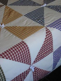 Hello, I am Elvira and from this corner I share my passion for projects h … Quilt Blocks Easy, Big Block Quilts, Colchas Quilting, Quilting Designs, Patchwork Designs, Quilt Block Patterns, Pattern Blocks, Diy Dream Catcher Tutorial, Gingham Quilt