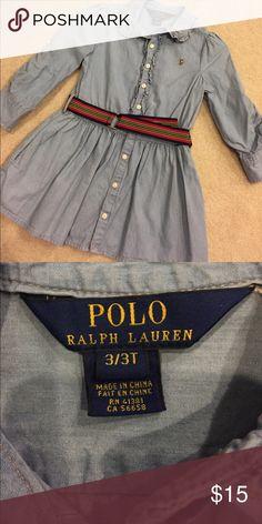 Polo Ralph Lauren Toddler Jean Dress Polo Ralph Lauren Toddler Jean Dress Polo by Ralph Lauren Dresses Casual