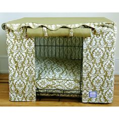 Dog Crate Cover-wonder if angs would like this. Mum was saying today on the phone that she thought his crate might be drafty:)
