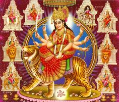Durga Puja has been one of the most important Hindu festivals. 'Mata Durga' is worshipped on a grand scale and her idols are consecrated. Prayers are offered and rituals are performed to honor the Goddess Durga. Chaitra Navratri, Navratri Festival, Happy Navratri, Navratri Wishes, Navratri Images, Navratri Special, Durga Maa, Durga Goddess, Saraswati Mata
