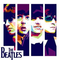 The Beatles WPAP by bennadn.deviantart.com on @DeviantArt