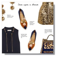 """""""ONCE UPON A DREAM..."""" by larissa-takahassi ❤ liked on Polyvore featuring Dolce&Gabbana, MICHAEL Michael Kors and Charlotte Olympia"""