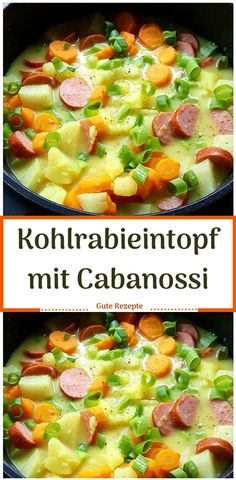 Kohlrabieintopf mit Cabanossi - Kohlrabieintopf mit Cabanossi La mejor imagen sobre diy para tu g - Cabbage Stew, Clean Eating, Healthy Eating, Cabbage Recipes, Dried Beans, Mushroom Recipes, Eating Plans, Eating Habits, Food Recipes