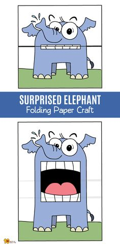 SURPRISED Elephant Folding Paper Craft