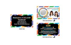 """Rodan + Fields Full Color Business Cards.  R and F Customizable 2"""" x 3 1/2"""" Business Cards with Front and Back printing in Matte or Glossy finish (Semi Gloss finish is only option for 250, matte finish and high definition gloss finish are available for 500 cards and up). lc"""