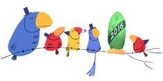 Felice Anno Nuovo 2016 con il doodle di Google