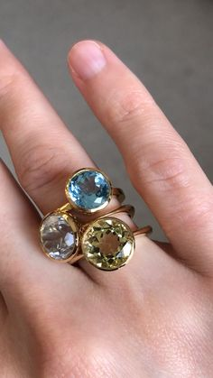 Pink Topaz Statement Ring- Bohemian Ring- A size 6.5 Mixed Metals Ring 24k Gold and Silver Ring Emerald Aquamarine Multi Stones ring