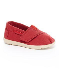This My Buddies Red Strap Slip-On Shoe by My Buddies is perfect! #zulilyfinds $6.99
