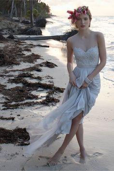 Beach Wedding Inspiration, including this stunning Vivienne Wedding Dress from BHLDN.