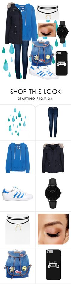 """""""Winter Blues"""" by awisha216 ❤ liked on Polyvore featuring 2LUV, Koza, New Look, adidas, CLUSE, Jules Smith, Avon and UNIONBAY"""